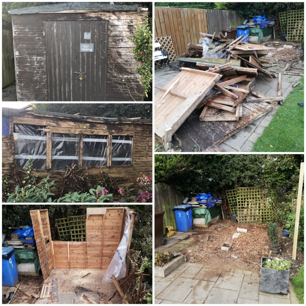 Shed Removal Dismantle, North Down, Bangor, Belfast