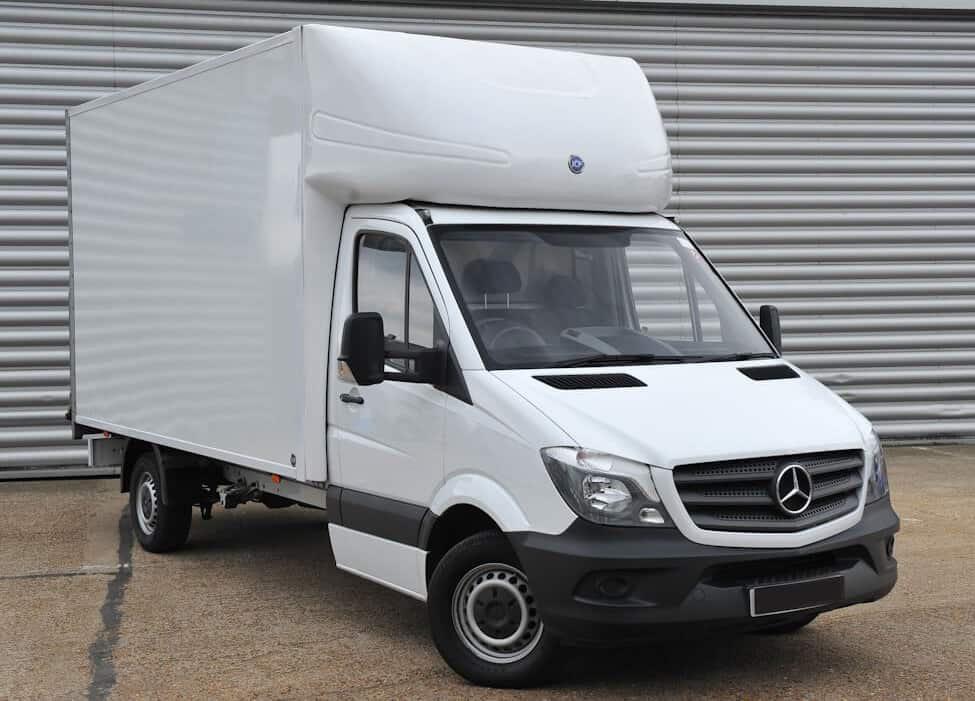 Luton Van Used For Garage Rubbish Removal